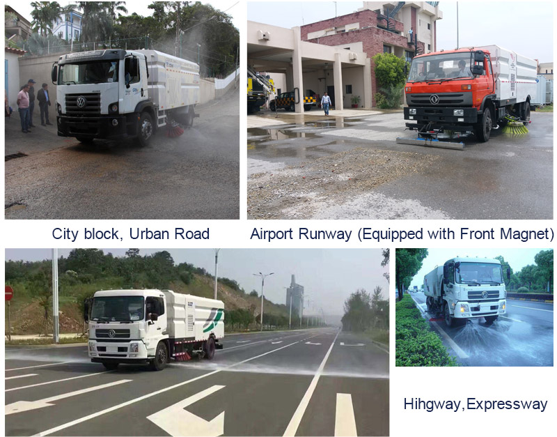 High Pressure Road Washing Truck